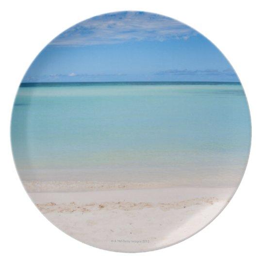 Aruba, beach and sea 3 plate