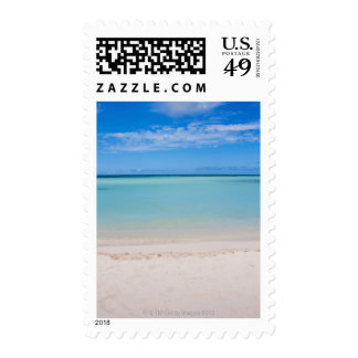 Aruba, beach and sea 3 postage stamp