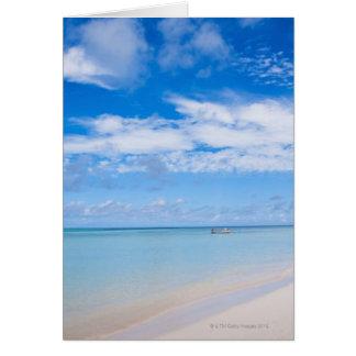 Aruba, beach and sea greeting card
