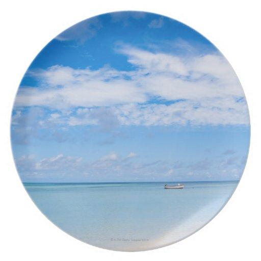 Aruba, beach and sea dinner plate