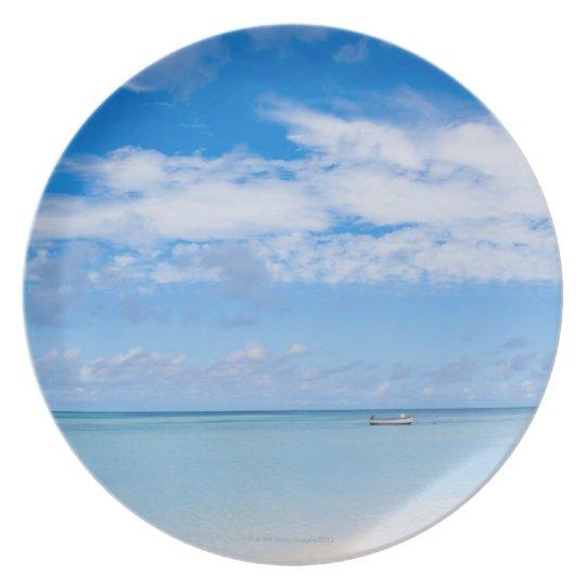 Aruba, beach and sea melamine plate