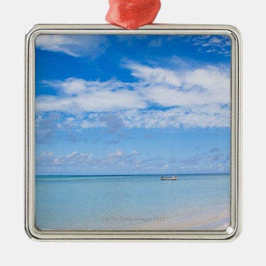 Aruba, beach and sea metal ornament