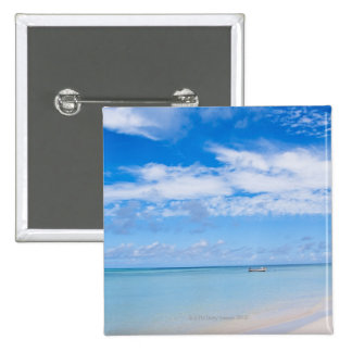 Aruba, beach and sea pinback button