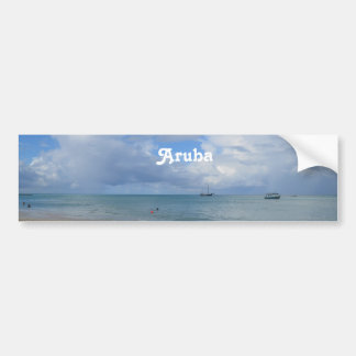 Aruba Beach Car Bumper Sticker