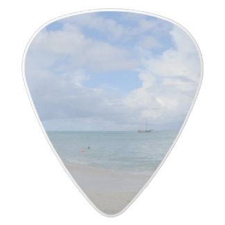 Aruba Beach White Delrin Guitar Pick