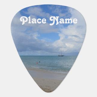 Aruba Beach Guitar Pick