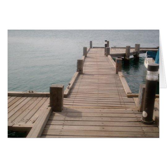 Aruba Boat Dock Greeting Card