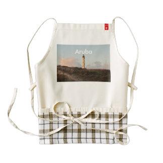 Aruba California Lighthouse Zazzle HEART Apron