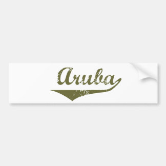 Aruba Car Bumper Sticker