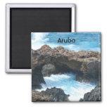 Aruba Coast 2 Inch Square Magnet