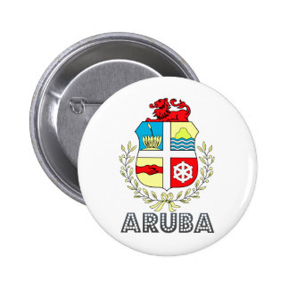 Aruba Coat of Arms Pinback Buttons