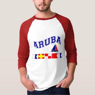 Aruba (deletreo marítimo de la bandera) playera
