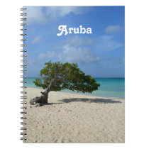 Aruba Divi Divi Tree Spiral Notebook