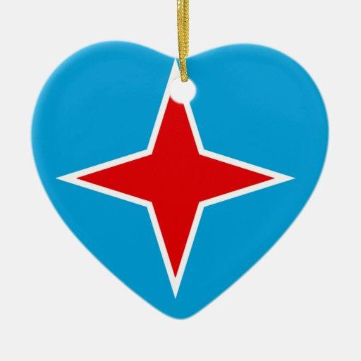 Aruba Double-Sided Heart Ceramic Christmas Ornament