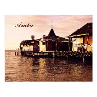 Aruba, early morning pier postcard