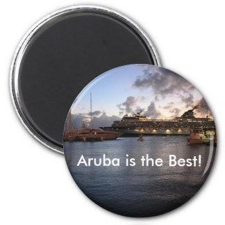 ¡Aruba es el mejor! Imán Redondo 5 Cm