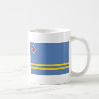 Aruba Flag AW Classic White Coffee Mug