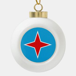 Aruba Flag Ceramic Ball Christmas Ornament