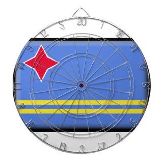 Aruba Flag Dartboard With Darts