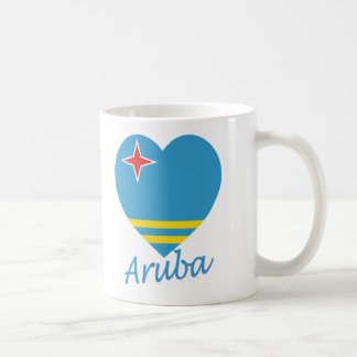 Aruba Flag Heart Coffee Mug
