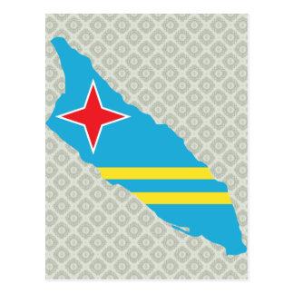 Aruba Flag Map full size Post Cards