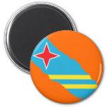 Aruba flag map magnets