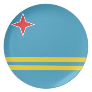 Aruba Flag Plate