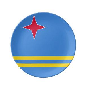 Aruba Flag Porcelain Plate