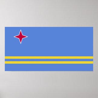 Aruba flag poster