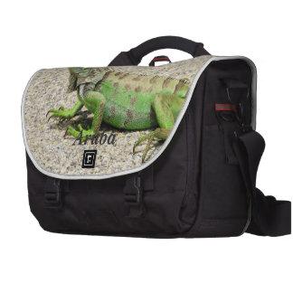 Aruba Green Iguana Laptop Bag