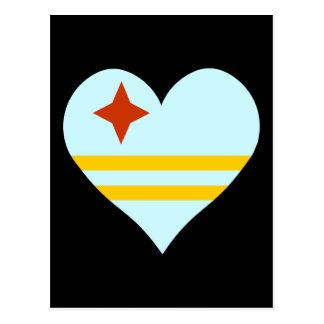 Aruba Heart Postcard