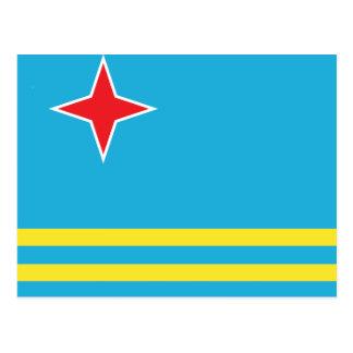 Aruba High quality Flag Postcard