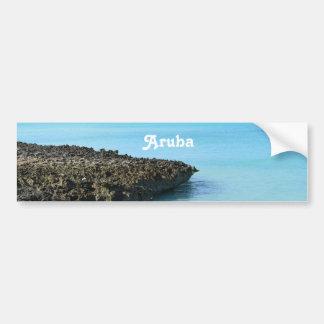 Aruba Landscape Car Bumper Sticker