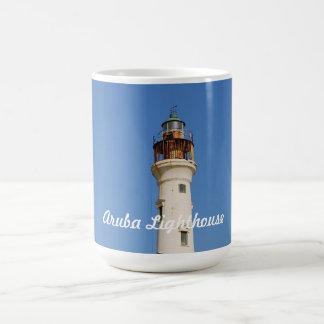 Aruba Lighthouse Classic White Coffee Mug