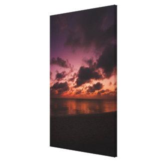 Aruba, mar en la puesta del sol lona estirada galerías