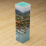 """Aruba Marina Custom Wine Gift Box<br><div class=""""desc"""">Create your own special message on the top of this wine box featuring e scene from the tropical dutch island of Aruba, a land of perpetual summer. Those who have arrived at this sovereign state, which is a perat of the Kingdom of the Netherlands, will probably remember seeing this Oranjestad...</div>"""