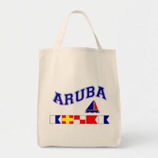 Aruba (Maritime Flag Spelling) Tote Bag