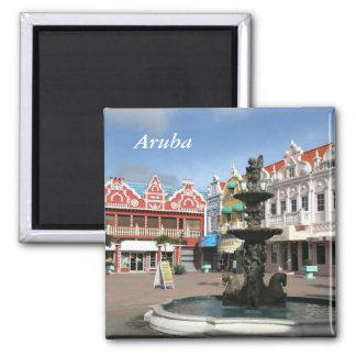 Aruba, Oranjestad 2 Inch Square Magnet