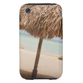 Aruba, palapa on beach iPhone 3 tough case