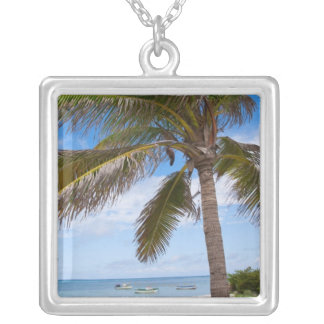 Aruba, palm tree on beach pendants