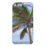 Aruba, palmera en la playa funda para iPhone 6 barely there