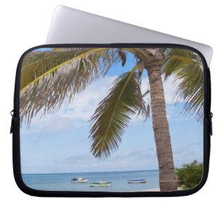 Aruba, palmera en la playa fundas computadoras