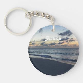 Aruba Perfection Single-Sided Round Acrylic Keychain