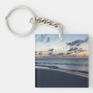 Aruba Perfection Single-Sided Square Acrylic Keychain