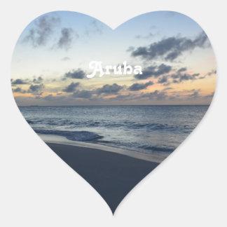 Aruba Perfection Heart Sticker