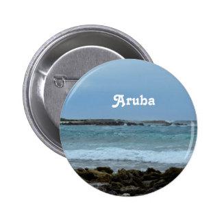 Aruba perfecto pin redondo de 2 pulgadas