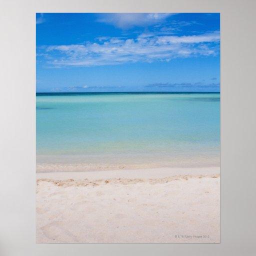 Aruba, playa y mar 3 póster