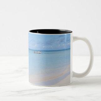 Aruba, playa y mar taza de café