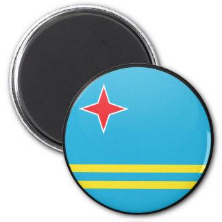 Aruba quality Flag Circle Refrigerator Magnets