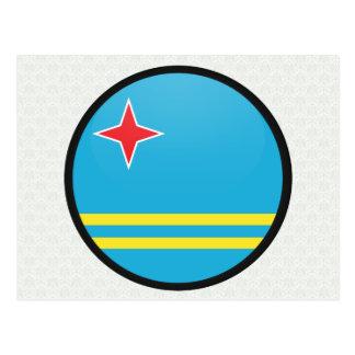 Aruba quality Flag Circle Postcard